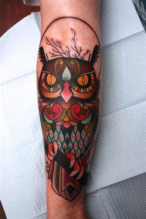 owl tattoo american traditional 30 awesome traditional owl arm tattoos traditional