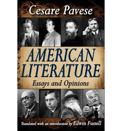 American Literature Essays by American Literature Cesare Pavese 9781412810739