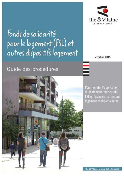 Plafond Fsl by Calam 233 O Fonds De Solidarit 233 Pour Le Logement Fsl Et