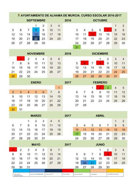 Calendario Laboral 2018 Murcia Ayuntamiento De Alhama De Murcia Calendario Escolar En