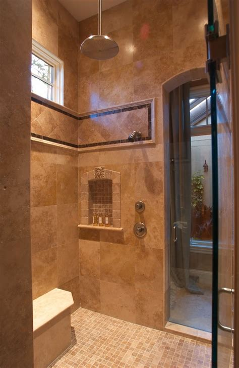 built in shower shower tile built in shelf and seat built in showers