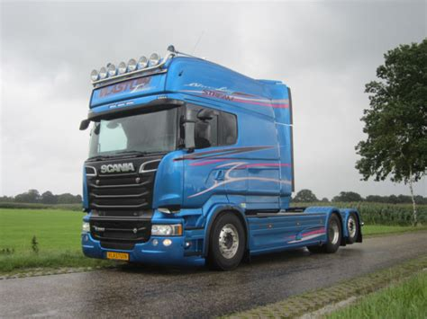 scania r560 longline bleu edition tractor unit from