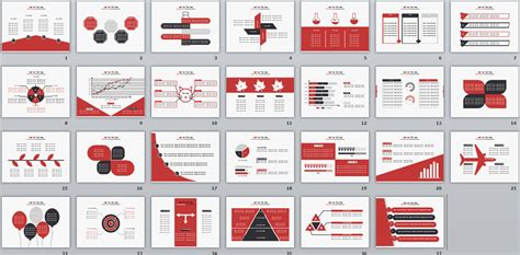 powerpoint design red powerpoint templates