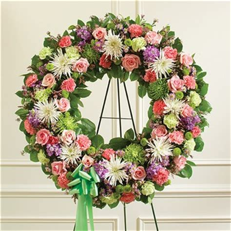 multicolor pastel mixed flower wreath | 1 800 flowers 4