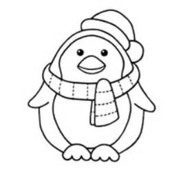 winter penguin coloring page www pixshark com images