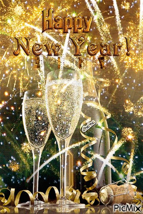 new year 2018 images with rose and wine decuration happy new year 2017 with wine glasses picmix
