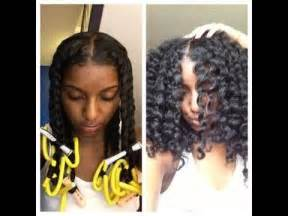 how to roll hair with jumbo flexi rods natural hair twist out perm rods and flexi rods
