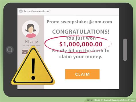 Fake Sweepstakes - how to avoid sweepstakes fraud with pictures wikihow