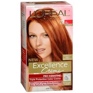 pictures of who colored their hair with loreal feria b16 loreal excellence hair color creme 7r red penny 1 ea