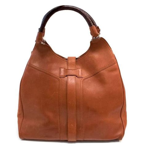 Evas Fashionable And Charitable Bag by Krolle Leather Tote Bag For Sale At 1stdibs