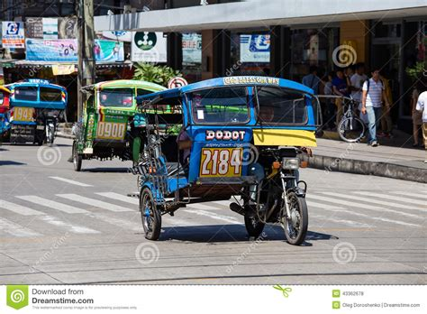 philippines taxi tricycle motor taxi philippines editorial stock photo