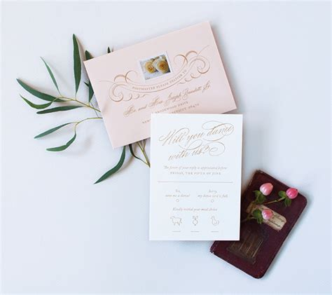 Swan Wedding Invitation Cards by Swan Inspired Wedding Invitations
