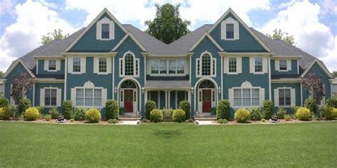 blue house exterior colour schemes blue exterior paint colors home design