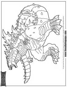 godzilla coloring pages science fiction godzilla coloring page h m