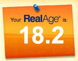 Find Out Your Real Age by Dr Oz Real Age Free Test Find Out Your Real Age