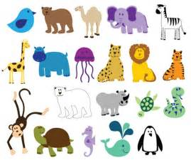 download free colorful animals vector free