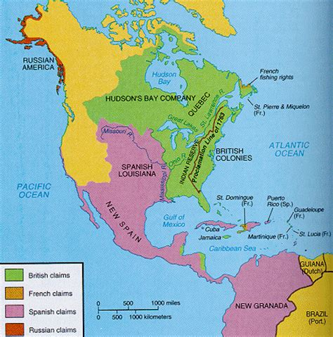 america map before indian war the and indian war