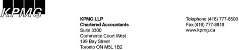 Scotia Bank Letterhead Kpmg Letterhead