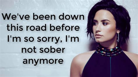 demi lovato sober lirik demi lovato sober lyrics youtube