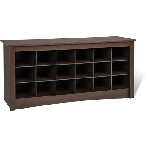walmart shoe storage bench prepac shoe storage bench