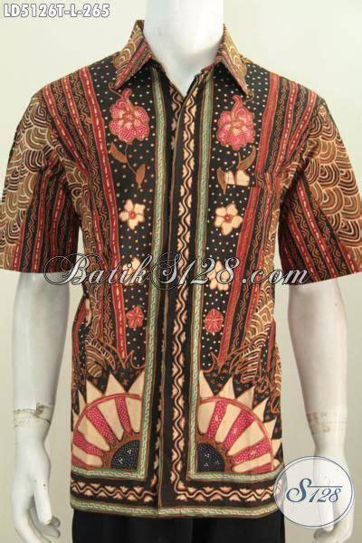 Baju Hem Formal baju hem modis desain formal kwalitas premium pakaian batik lengan pendek motif klasik proses