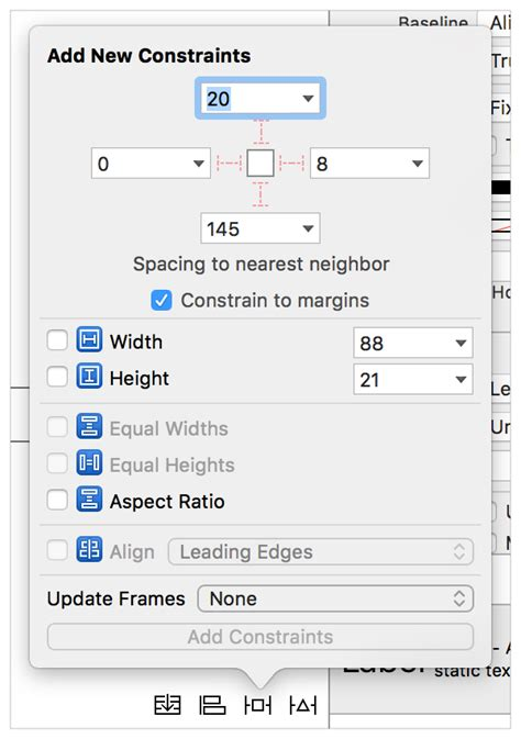 layout guides interface builder auto layout guide working with constraints in interface