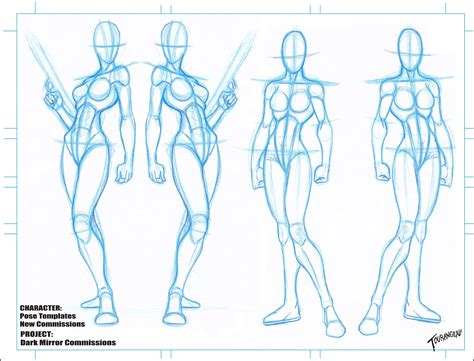 Anime Character Template by The Of Tourangeau New Character Blanks