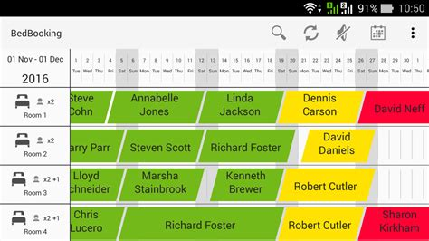 Calendar Room Booking System by Mobile Application Bedbooking Android Bedbooking
