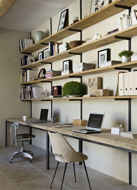 shelving above desk office
