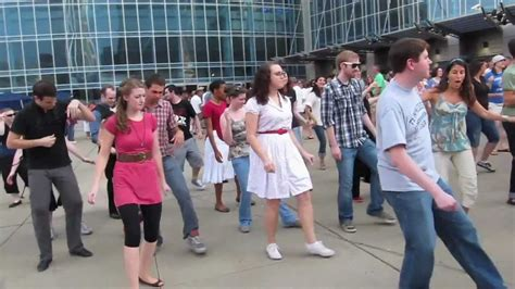 swing mob swing dance flash mob youtube