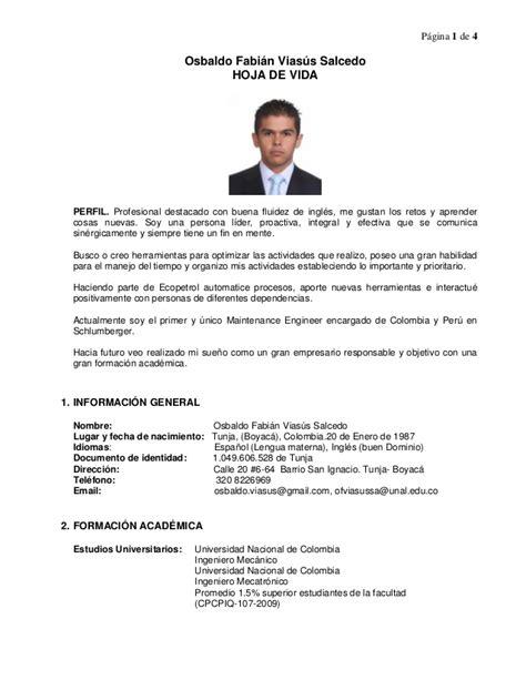 Career Objective Samples For Resume by Cv Osbaldo Viasus Mech Mechatro Engineer 2013