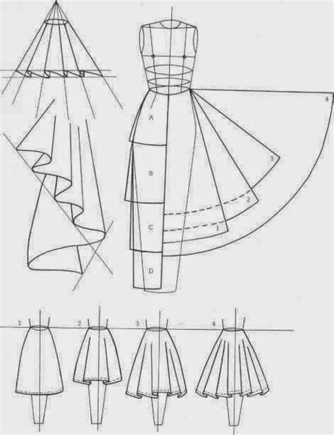 fashion pattern cutting line shape and volume skirts love the visual between the pattern shape and the
