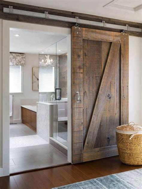 Shower Barn Door Frosted Glass Sliding Barn Shower Door Design Ideas