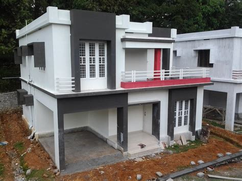low budget contemporary style villa project in angamaly