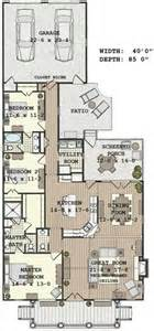 Narrow House Floor Plan by Long Narrow House With Possible Open Floor Plan For The