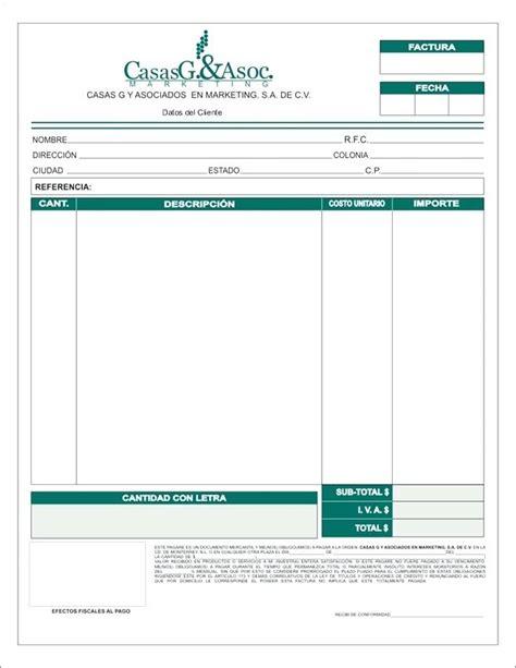formato de facturas en excel mexico formato de factura descargar formato de factura pdf