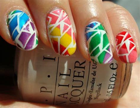 tutorial nail art rainbow rainbow nails quot カラフル quot なネイルデザイン画像集 naver まとめ