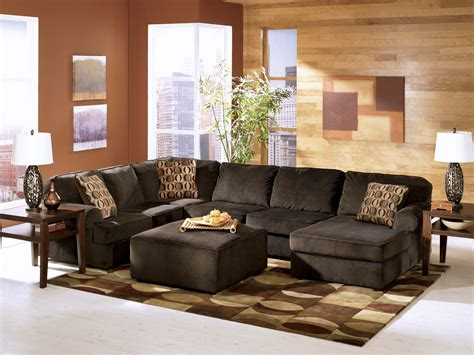 Sectional Furniture Sets by Vista Chocolate Sectional Sectional Sofa Sets