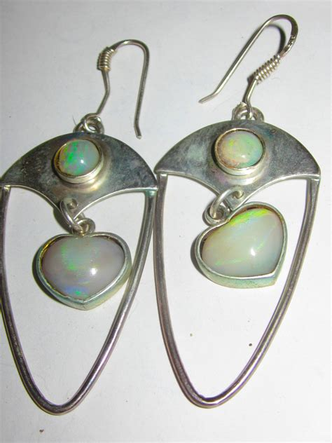 Australian Handmade Jewelry - opal earrings australian opal earrings handmade earrings