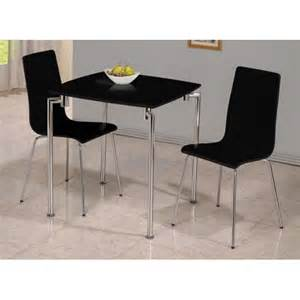 Small Black Dining Table Set Fiji High Gloss Small Dining Set In Black 19035 Furniture