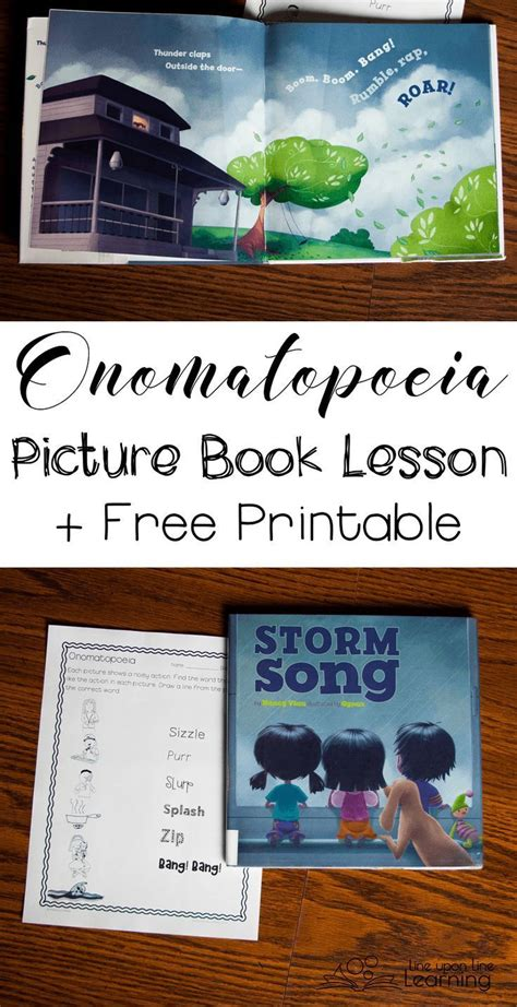 picture books to teach figurative language onomatopoeia picture book lesson tell a story with sounds