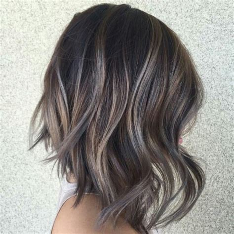 pictures of dark hair highlighted to blend gray highlights to blend grey in dark hair hairstylegalleries com