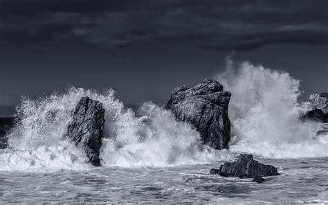 black and white ocean wallpaper ocean waves storm photo black and white hd wallpaper