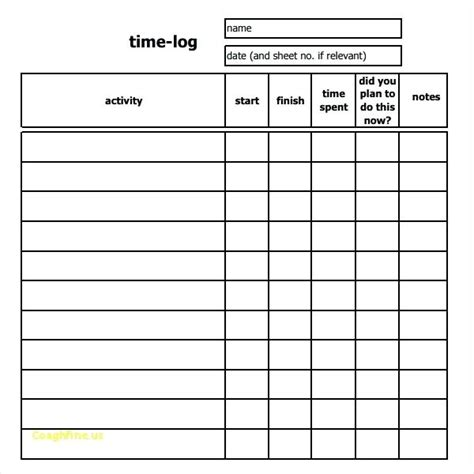 time study template time study template pdf time study template best of