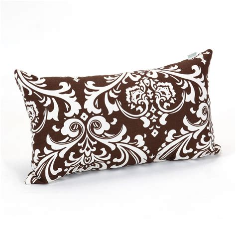 decorative pillows home goods shop majestic home goods 12 in w x 20 in l chocolate