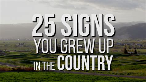 7 Signs That You Grew Up In The 80s 25 signs you grew up in the country