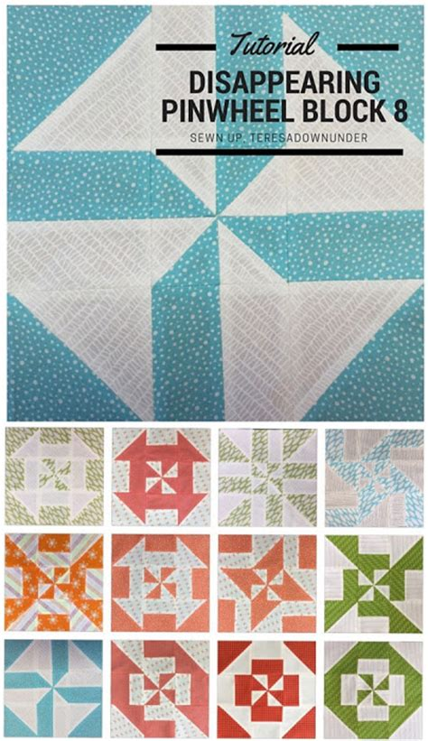 Make Pinwheel Quilt Block by February 2016 Sewn Up