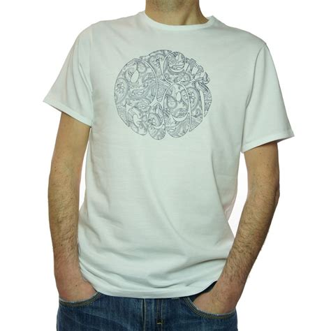 White Printed T Shirt Mens by Buy Pretty Green S Printed T Shirt In White Jon Barrie