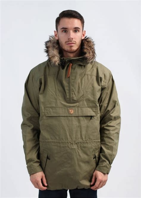 Hugo Leather Jacket Kangaroo Material fjallraven gutulia anorak green