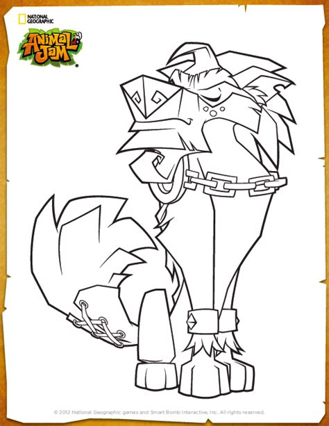 Galerry coloring pages of animal jam